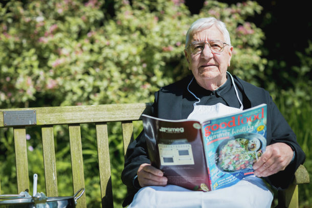 Miss Windsor's Delectables - photo of Father Christopher Calascione - Downside Abbey - avid reader of Good Food Magazine!