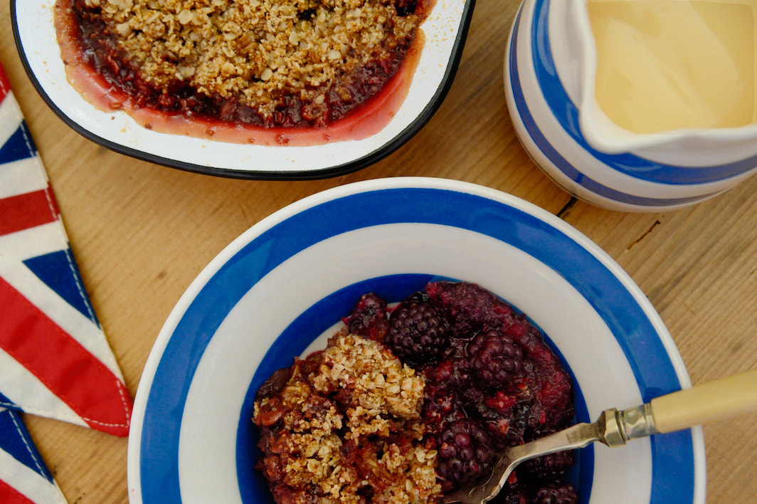 Miss Windsor's Blackberry & Apple Crumble Recipe (Gluten-Free/Vegan)