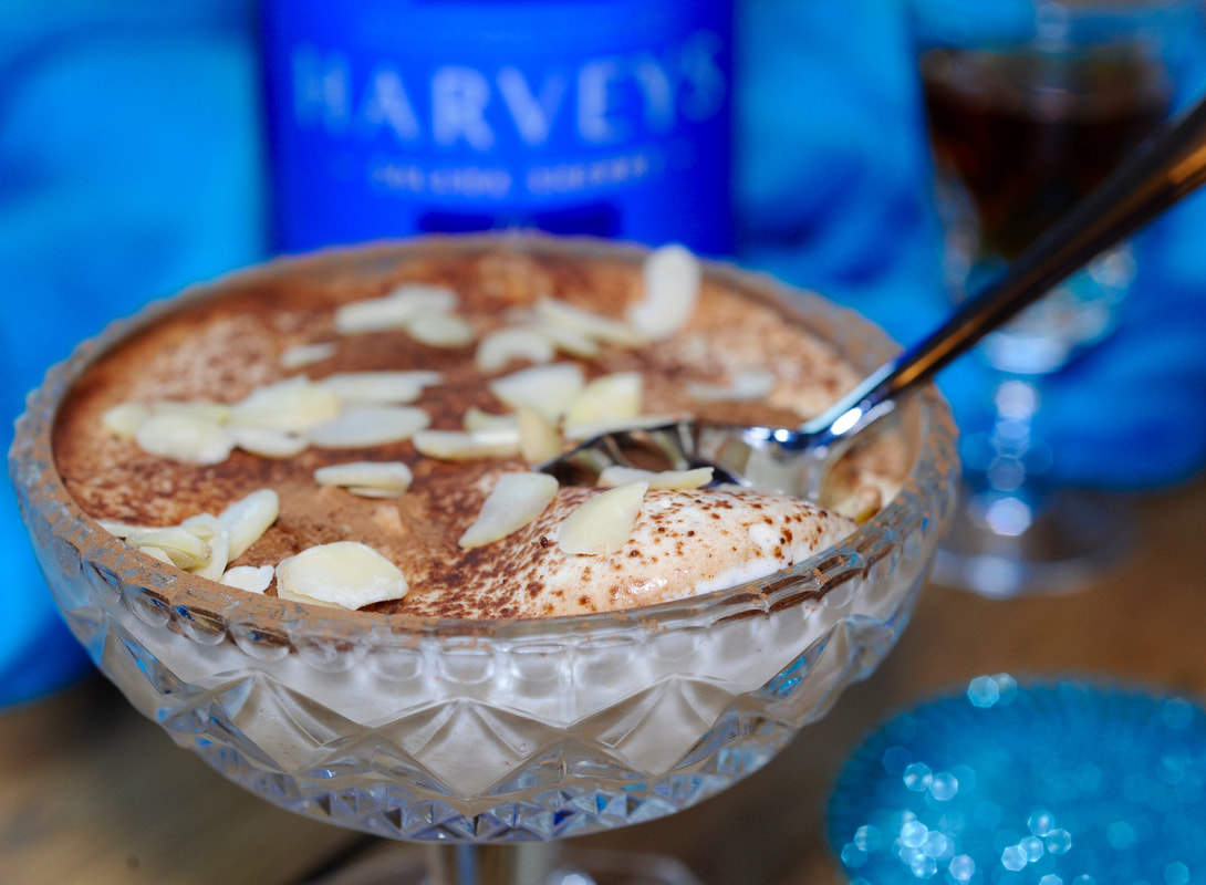 Miss Windsor's Festive Sherry & Spice Tiramisu - with Harvey's Bristol Cream Sherry!