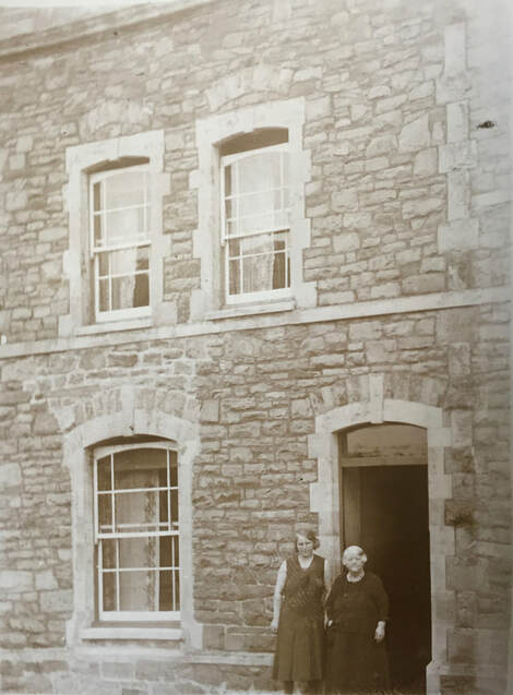 Miss Windsor: Circa 1930's - Great Great Aunt Betty & Grandma Georgina outside ancestral home in Lower Queen's Road, Clevedon, Somerset!