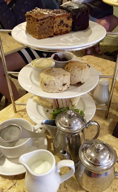 Miss Windsor's Delectables - Afternoon Tea - cakes made by Tiptree - Harriet's Café Tearooms, Cambridge.