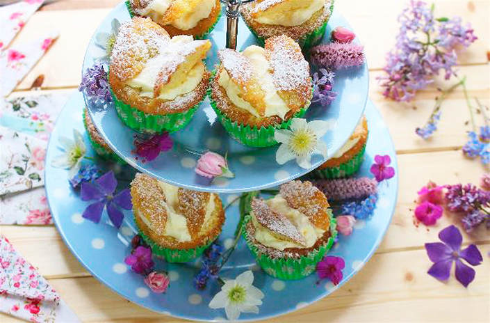 Miss Windsor's Delectables & Mrs Simkins - Lemon & Elderflower Butterfly Cakes - To commemorate the royal marriage of Prince Harry & Meghan Markle - Duke & Duchess of Sussex!
