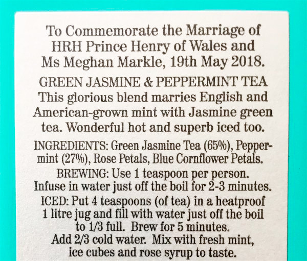 Miss Windsor's Delectables - Review / ingredients / brewing instructions - Fortnum & Mason - The Wedding Bouquet Blend Tea! To commemorate the royal marriage of Prince Harry & Meghan Markle - Duke & Duchess of Sussex!
