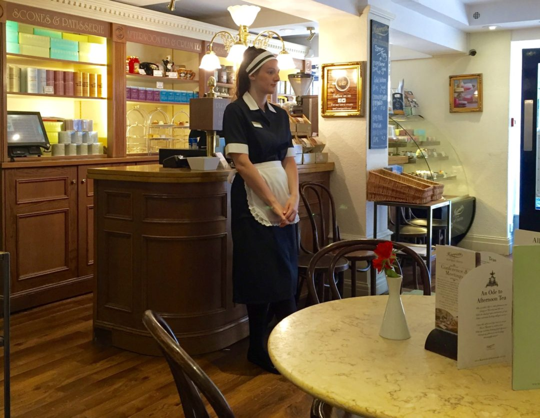 Miss Windsor's Delectables - Nippie (waitress) - Afternoon Tea at Harriet's Café Tearooms, Cambridge.