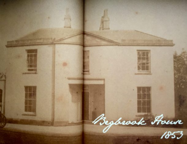 Miss Windsor's Delectables - photo of Begbrook House, Frenchay, Bristol, 1853 - taken from the Bristol Georgian Cookbook