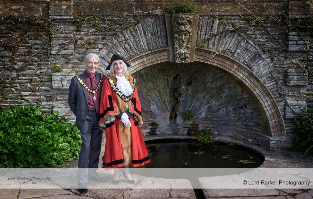 Miss Windsor: Photo by Lord Parker Photography of Former Lord Mayor of Taunton Deane - Cllr Marcia Hill & Consort Mr Hill!