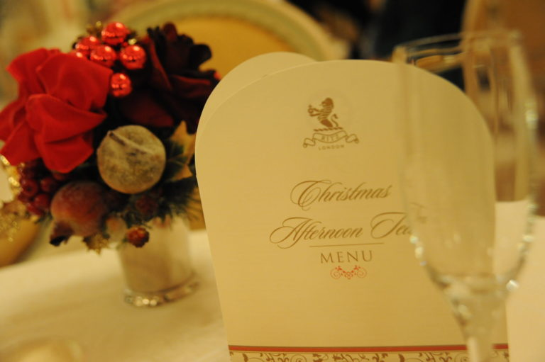 Miss Windsor's Delectables - Christmas Afternoon Tea at The Ritz, London