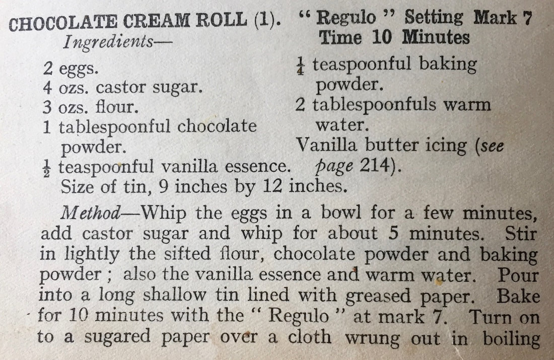 Chocolate Cream Roll recipe - 1935 edition - Radiation Cookery Book!