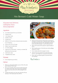Mrs Beeton's Cold Winter Soup