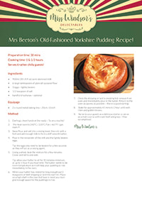 Mrs Beeton's Old-Fashioned Yorkshire Pudding Recipe!