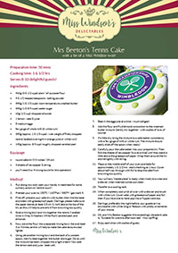 Mrs Beeton's Tennis Cake