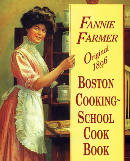 Miss Windsor: original front cover of Fannie Merritt Farmer's The Boston Cooking-School Cook Book!